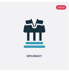 Two color diplomacy icon from law and justice vector