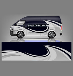 Van wrap design vector