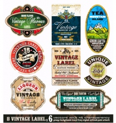 Vintage labels collection set vector