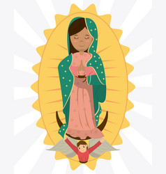 Virgin of guadalupe angel devotion image vector