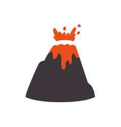 volcanic eruption with lava and rocks vector image