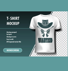 Wanted t-shirt template fully editable vector