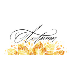 Watercolor painted autumn leaves banner fall vector