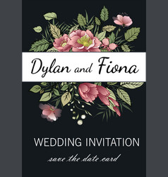 wedding invitations menus greeting card vector image