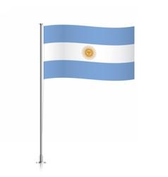 Argentina flag waving on a metallic pole vector