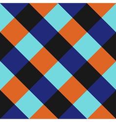 Blue orange chess board diamond background vector