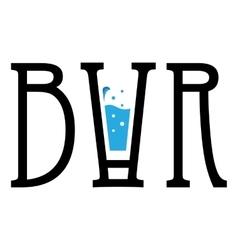 Creative logo bar Modern design for your vector image
