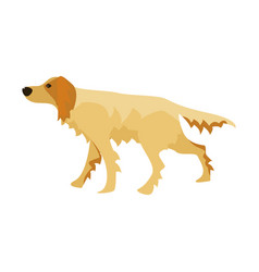flat cartoon style dog vector image