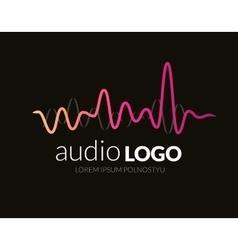 Logo template sound wave studio music dj audio vector image vector image