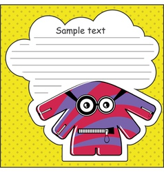 Monster with message cloud vector image vector image