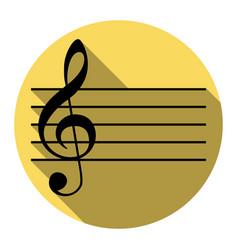 music violin clef sign g-clef flat black vector image