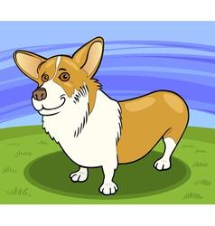 Pembroke welsh corgi dog cartoon vector
