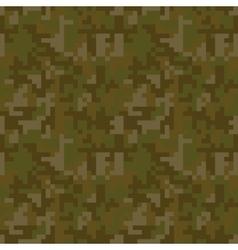 Pixel camo seamless pattern Brown desert or vector image