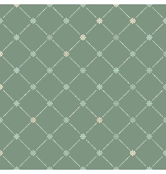 Vintage seamless with dots EPS 8 vector image