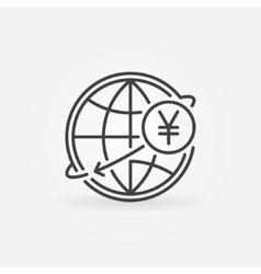 Yen international money transfer vector