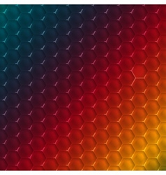 Abstract hexagon shape design template vector image