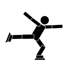 figure skating flat icon vector image vector image