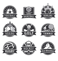 large set of logos for sports vector image