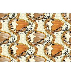 Seamless butterfly background - Pearly Heath vector image vector image