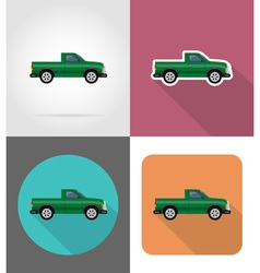 transport flat icons 50 vector image vector image