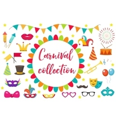 Carnival party icon set design element vector image