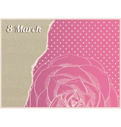 Gift cards for 8 March vector image vector image