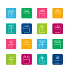 set of gift boxes icons vector image vector image