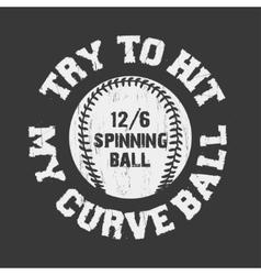 Baseball emblem for t-shirt vector image