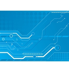 blue circuit board background vector image