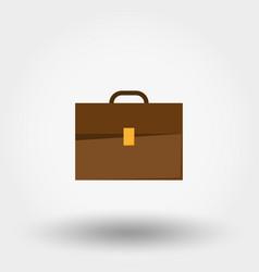 briefcase line icon vector image