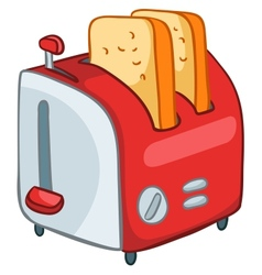 cartoon home kitchen toaster vector image vector image