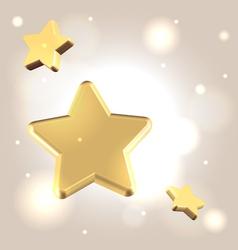 Golden starry background vector image vector image