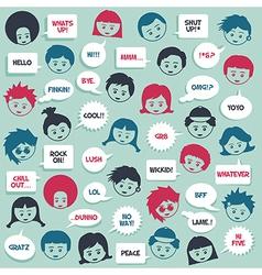 kids talking vector image vector image