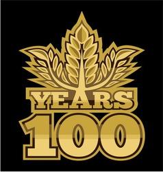 LaurelNew New 100 godina resize vector image vector image