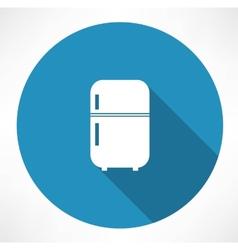 retro refrigerator icon vector image