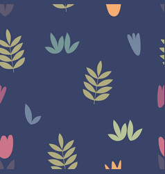 stylized floral elements for design vector image