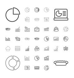 37 pie icons vector image
