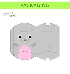 Adorable diy party favor box for birthdays baby vector