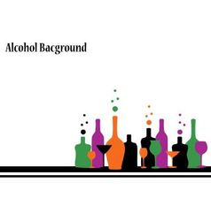alcohol background vector image