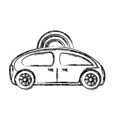 Autonomuos car icon vector