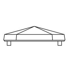 awning tent icon outline style vector image