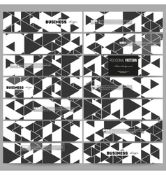 Banners set Triangular pattern Abstract vector image