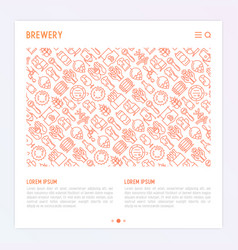 Beer concept with thin line icons vector