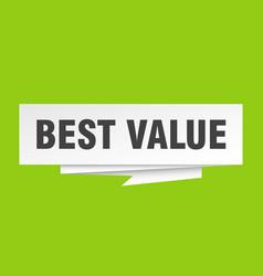 Best value vector