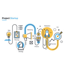 business project startup process vector image