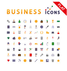 business universal icons vector image