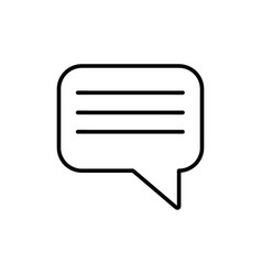 chat outline icon vector image