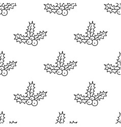 christmas seamless pattern with wreath vector image vector image