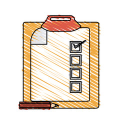 Clipboard with checklist icon image vector