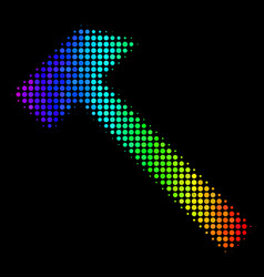 Colored pixel hammer icon vector